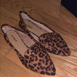 leopard loafers (soft)